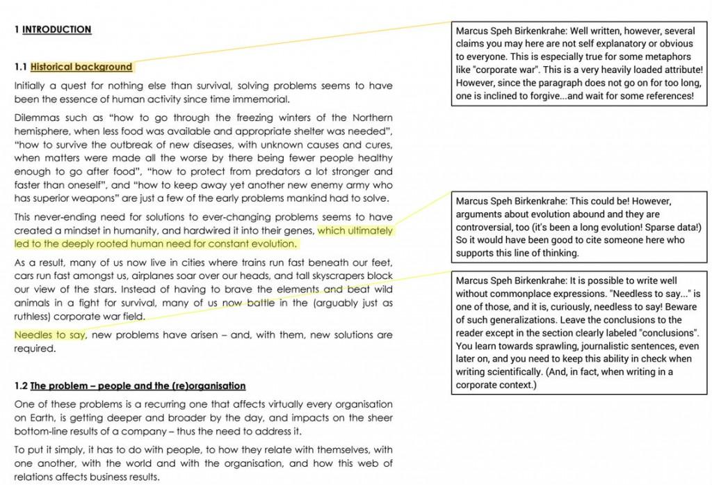So sieht der PDF Ausdruck des fertig annotierten Textes aus. Den man z.B. mit den Studierenden teilen kann. Rechtsklick auf Bild für Großversion.